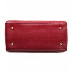 My Bag Lady Online Bags - Crocodile Embossed Wine Bowtie Tote & Wallet Set